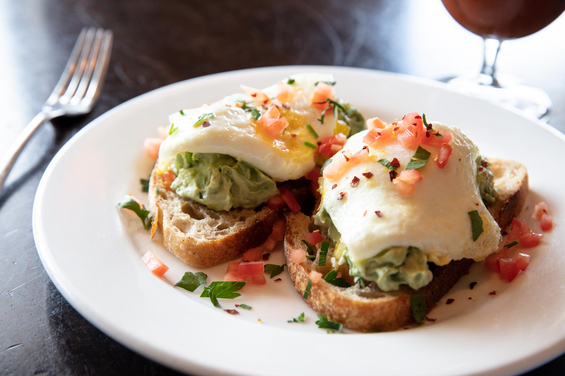 Avocado Eggs Benedict Photo