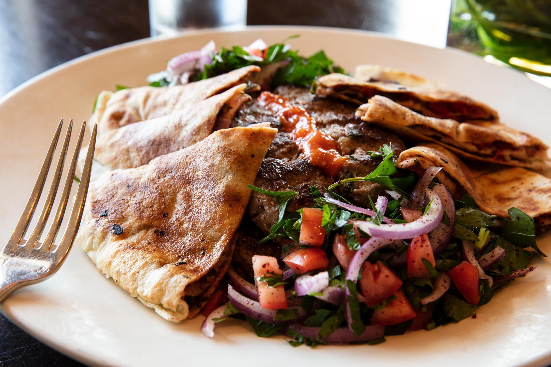 Delicious Lebanese style dinners at Olives Restaurant in Mankato, Minnesota.