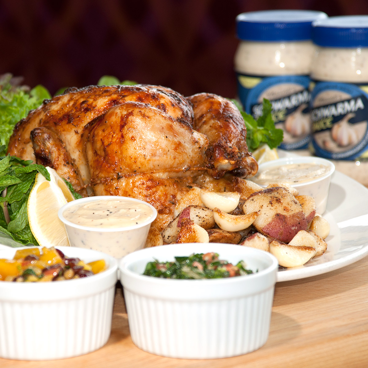 Delicious whole chicken from Olives Restaurant in Mankato, Minnesota.